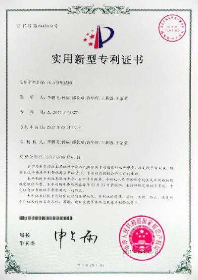 专利(压力分配结构)